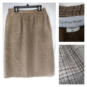 Evan picone VTG pencil skirt tweed wool pocket